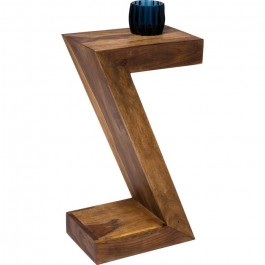 Boston Silver Contemporary Solid Wood Unique Zed Design Side Table Z 30x20cm