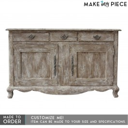 French Style Carved Solid wood Sideboard Brown 1.6m