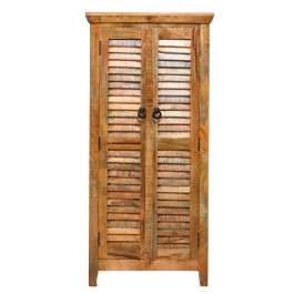 Aspen Reclaimed Wood Shutter Door Cabinet Natural 70x45x150 cm