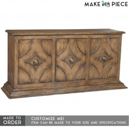 Antique Hand Carved Solid wood Sideboard Brown 1.7m
