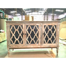 French Arched Door Solid wood Sideboard 1.5m Zinc Tone Door