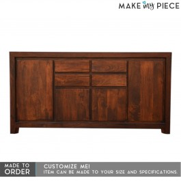 BOSTON Contemporary Mango Wood Sideboard Chocolate Brown