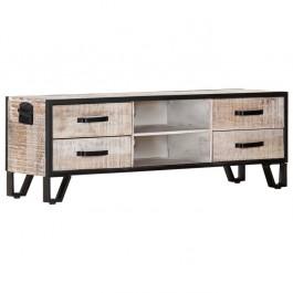 AVALON Solid wood Metal Work Tv Unit Whitewash120cm