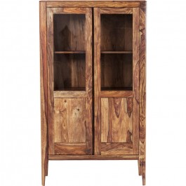 Boston Taper Contemporary Solid Wood Display Cabinet 2 Doors Natural 175 cm