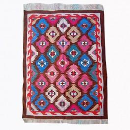 Kilim Wool Handwoven Cotton Dhurrie Durry Rug Jute Floor Covering Pattern 31