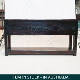 Antique panel Solid wood Hand Carved Hall Table Console BLACK