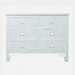 Maaya Bone Inlay Chest of Drawer sideboard Navy Blue
