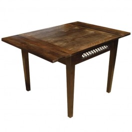 Boston Indian Wood Jali Dining Table With Extension Brown