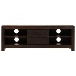 AVALON Solid wood 2Drawer & 4Shelf Tv Unit Black
