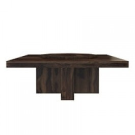 Boston  Solid Wood Large Square Pedestal Dinning Table