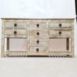 Hand Carved Solid Wood Brown Sideboard 170x41x91cm
