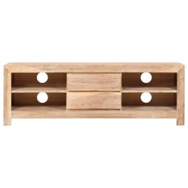 AVALON Solid wood 2Drawer & 4Shelf Tv Unit Light Brown