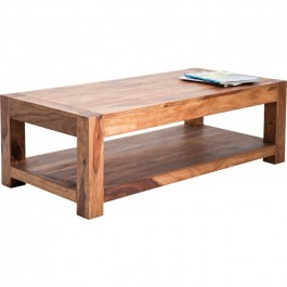 Boston Contemporary Solid Wood Rectangular Center Coffee Table 120 cm