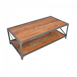 Angle Industrial French Coffee Table Natural 120x60cm