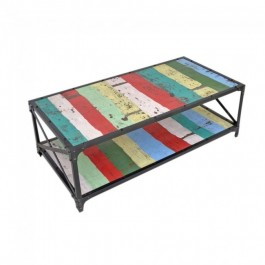 Angle Industrial French Coffee Table Reclaimed 120x60cm