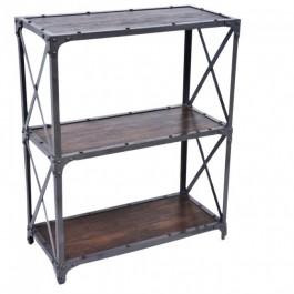 Angle Industrial Small Bookshelf book stand Chocolate