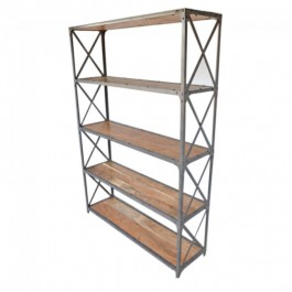 Angle Industrial XL Bookshelf book stand Natural 135cm