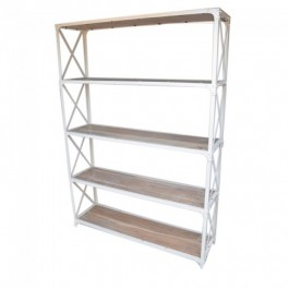 Angle Industrial XL Bookshelf book stand White 135cm
