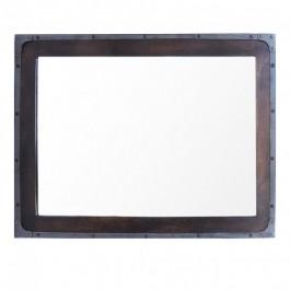 Angle Industrial Wall Bathroom Mirror Frame Chocolate 90cm
