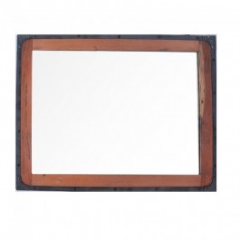 Angle Industrial Wall Bathroom Mirror Frame Natural 90cm