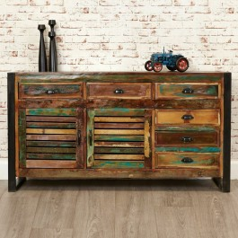 Aspen Reclaimed Wood Industrial Sideboard Buffet Hutch 150cm