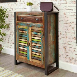 Aspen Reclaimed Wood Industrial Sideboard Hall Show Cabinet