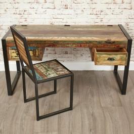 Aspen Reclaimed Wood Industrial Study Desk Hall Table 150cm