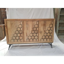 Indian Avalon Contemporary Indian Solid Wood Chest Of Drawers Sideboard Natural    152x40x101cm
