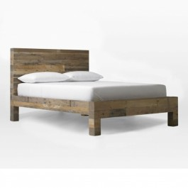 Boston Solid Mango Wood Queen Size Bed chip design