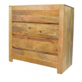 Contemporary Boston Chest of 4 Drawers Natural