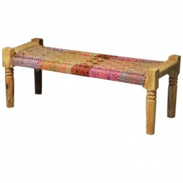 Indian Manjhi Woven charpai Daybed Red SML