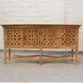 French Arched Doors raised buffet Sideboard 178x45x92cm