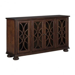 French Arched Glass Doors Sideboard Brown
