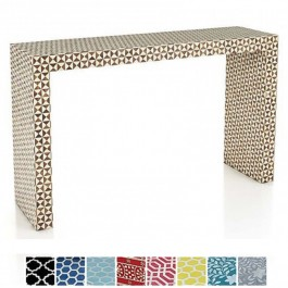 Maaya Bone inlay Black White Geometry Console Hall table
