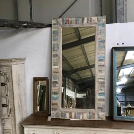 Aspen Indian Reclaimed Wood Wall Mirror Frame 80 x 150 cm