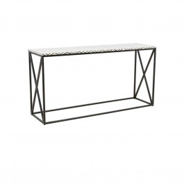 MAAYA Bone Inlay Solidwood Console Hall table Chevron pattern