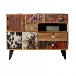 Lava Industrial Emboss Pressed Metal Entertainment Unit TV Stand L