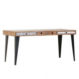 Lava Industrial Emboss Pressed Metal Office Desk Hall Table Console