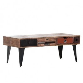 Lava Industrial Emboss Pressed Metal legs Coffee Table Center Table Lounge