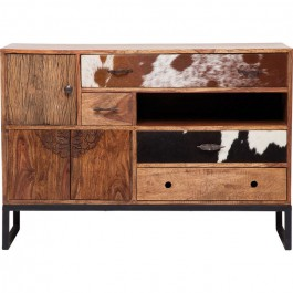 Lava Industrial Leather Sideboard Buffet console with drawers