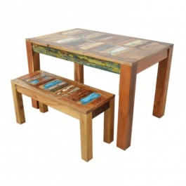 Nirvana Reclaimed boat wood 1.2m dining bench setting