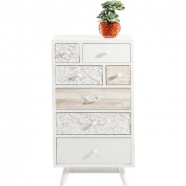 Vivid French Contemporary Tallboy chest of drawers 50x35x99