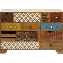 Vivid Screen Contemporary chest of drawers dresser sideboard 14 drawers