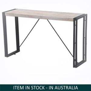 Barn wood Industrial Console Table-Whitewash-150-35-45 CM