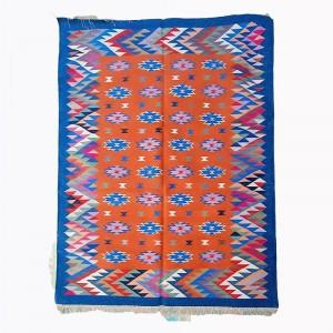 Kilim Wool Handwoven Cotton Dhurrie Durry Rug Jute Floor Covering Pattern 1