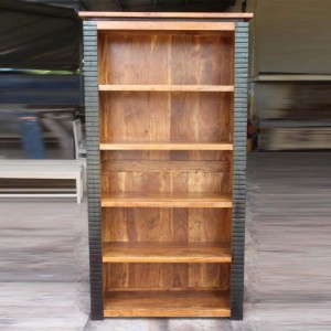MADE TO ORDER Indian Lyon Wooden Large Bookshelf Bookcase 100x35x200 cm
