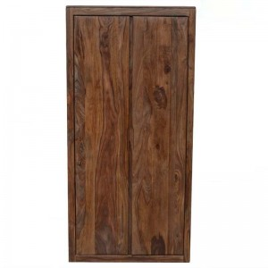 MADE TO ORDER Indian Solid Wood Burbury Cabinet Natural 100x60x200 cm