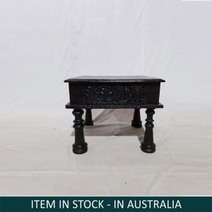 Indian Solid Wood Mini Side Table Black