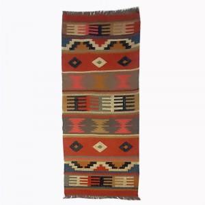 Kilim Handwoven Wool Woollen Dhurrie Durry Rug Jute Floor Runner Hallway Pattern 4