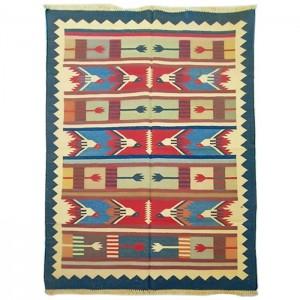 Kilim Wool Handwoven Woollen Dhurrie Durry Rug Jute Floor Covering Pattern 4